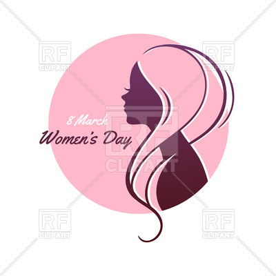 400x400 Silhouette Of Woman With Pink Hair