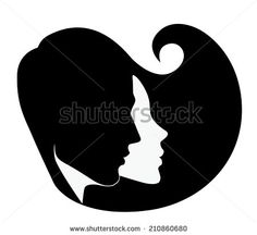 236x216 Woman Face Silhouette Vector