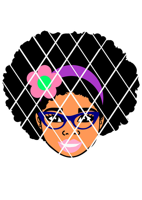 570x806 Afro Puffs Girl,taiana With Glasses Svg,sistah Svg,silhouette Svg