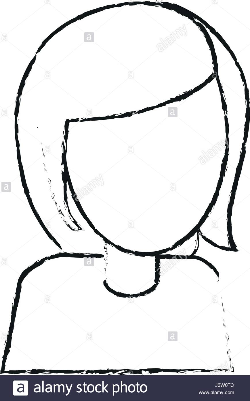869x1390 Blurred Silhouette Image Cartoon Faceless Half Body Woman