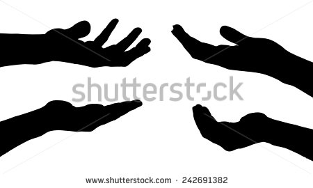 450x270 Hand Silhouette Group