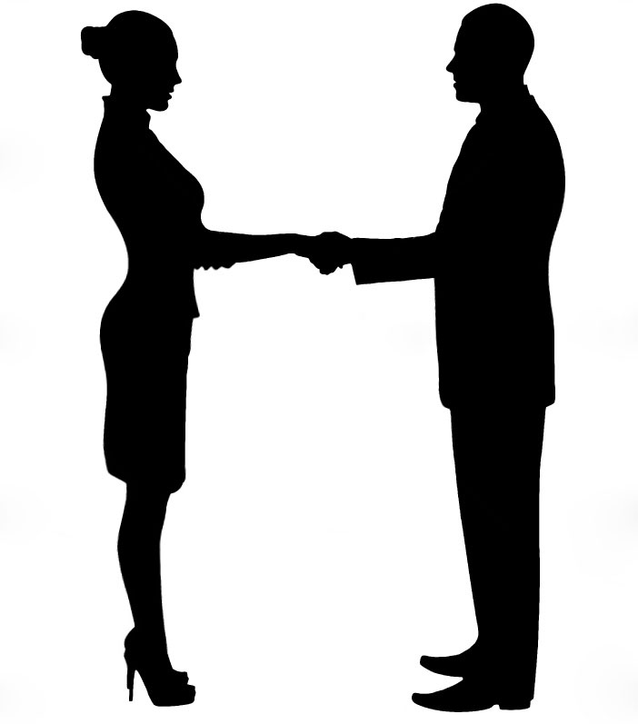702x797 Silhouette Girl Showing Guy The Hand