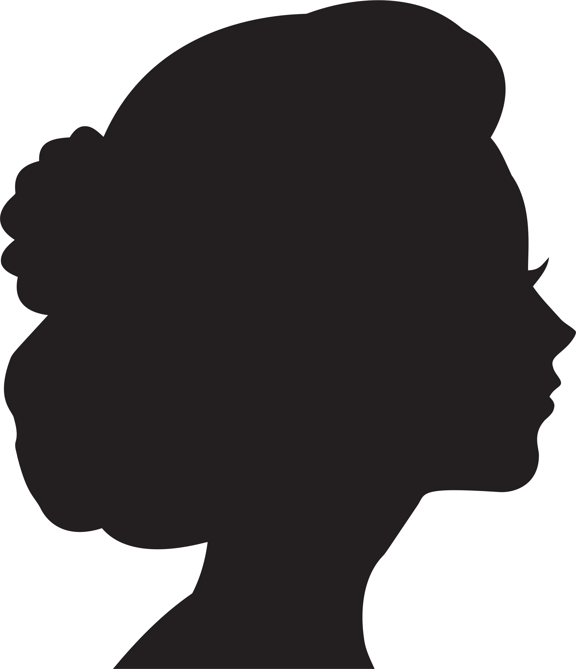 Woman Head Silhouette
