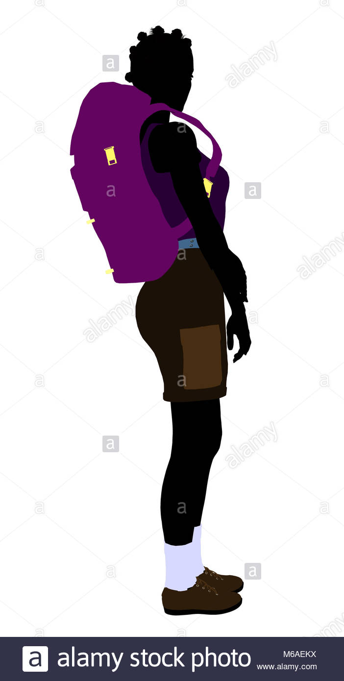 Woman Hiker Silhouette