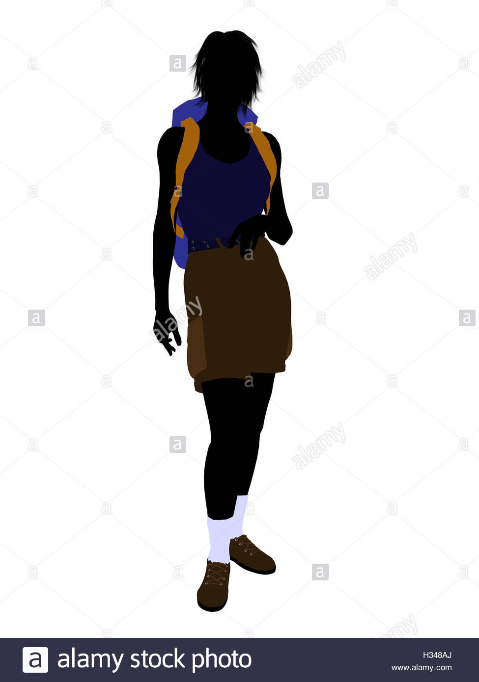 975x1390 Girl Hiker Silhouette Stock Photo, Royalty Free Image 122410922