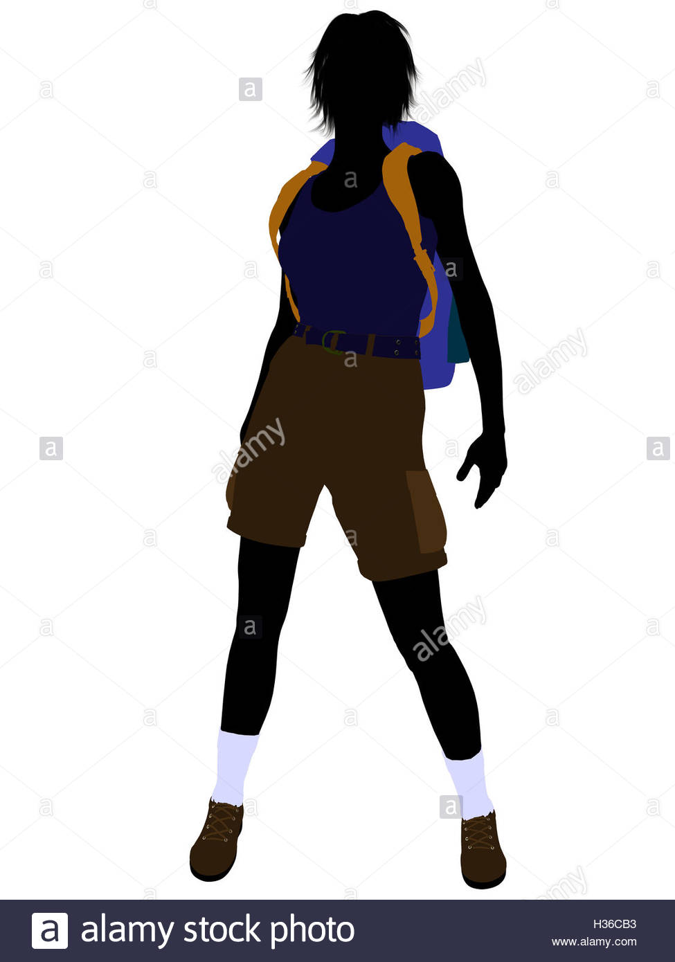 975x1390 Girl Hiker Silhouette Stock Photo, Royalty Free Image 122457975
