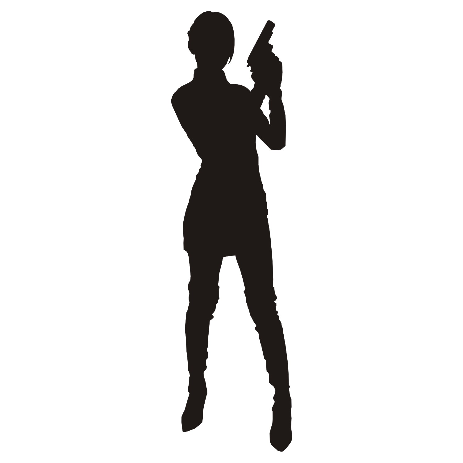 1500x1500 Vector For Free Use Woman With Gun