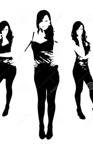 320x500 Woman In Dress Silhouette Vector Info