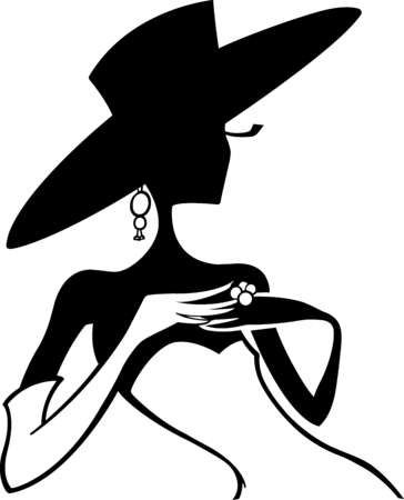 Woman In Hat Silhouette