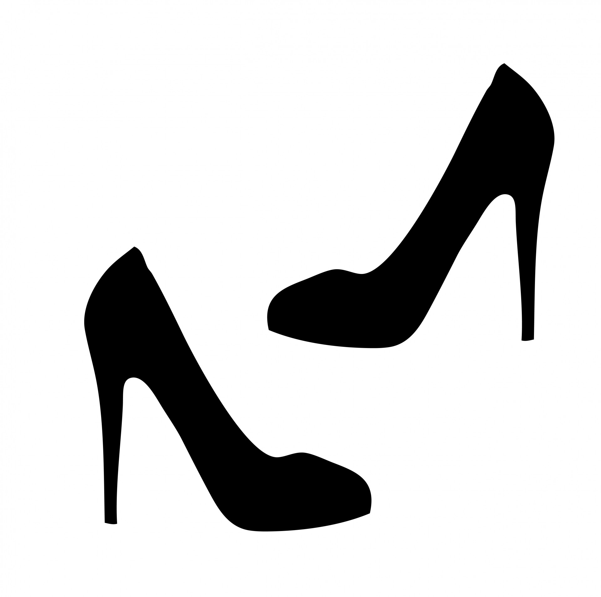 Woman In Heels Silhouette