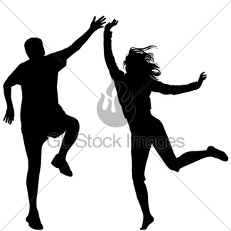 325x325 Silhouette Of Woman Jumping Outdoor Gl Stock Images