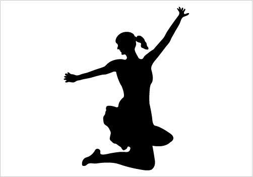 502x351 Women Jumping Silhouette Graphics Woman Silhouette