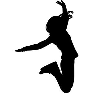300x300 Girl Jumping Silhouette Design, Silhouettes And Silhouette Files