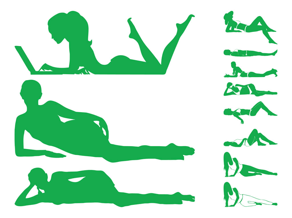 1024x765 Lying Women Silhouettes Vector Art Amp Graphics