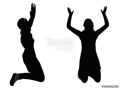 500x372 Muslim Woman Silhouette In Pray Pose Stock Image And Royalty Free