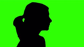 320x180 Praying Hands Silhouette Isolated Green Screen Stock Video Footage