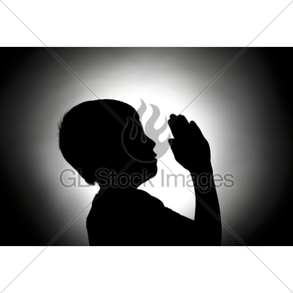 325x325 Silhouette Of Girl Praying Gl Stock Images