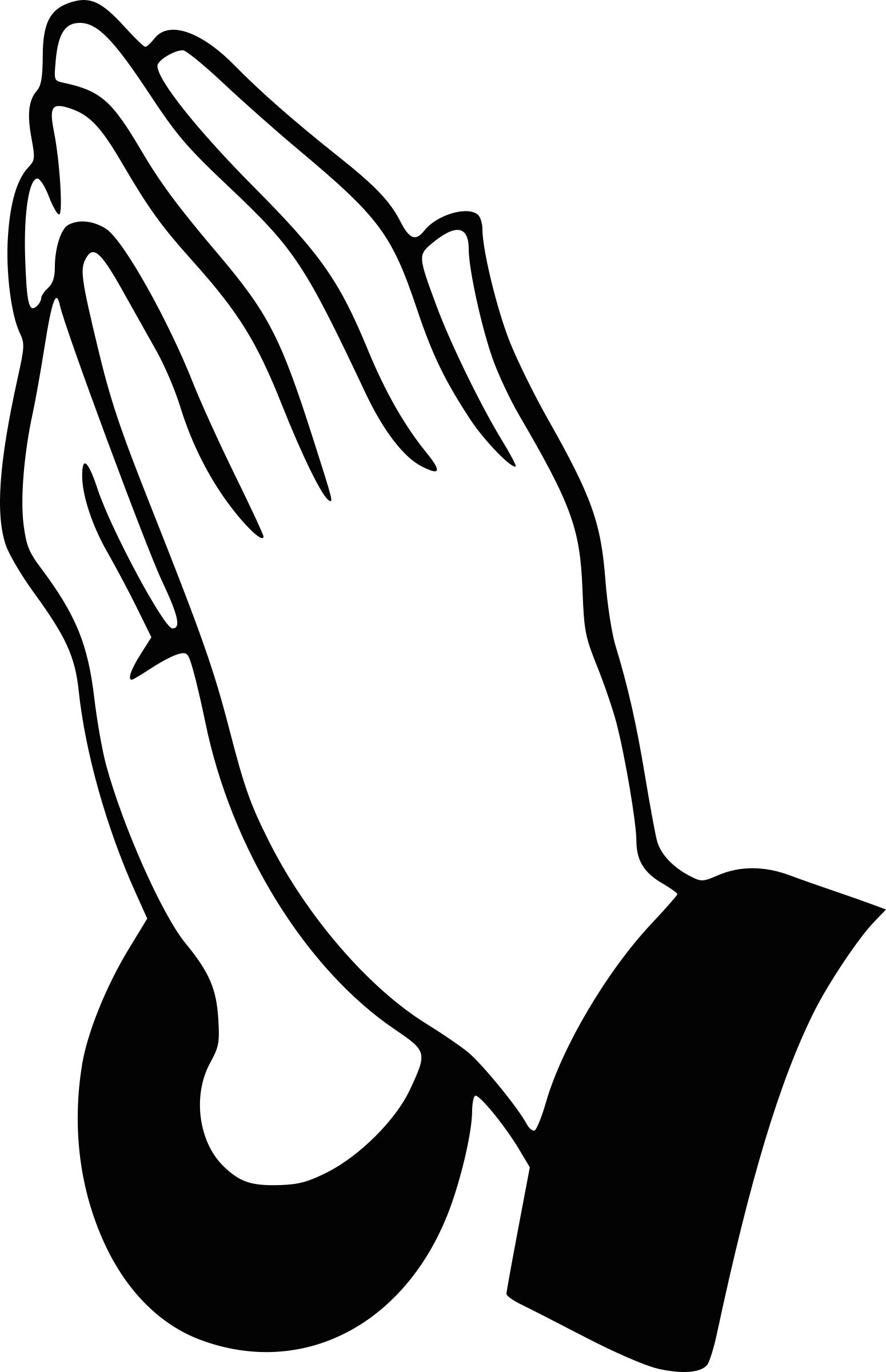 1550x2400 Praying Hands Icons Png