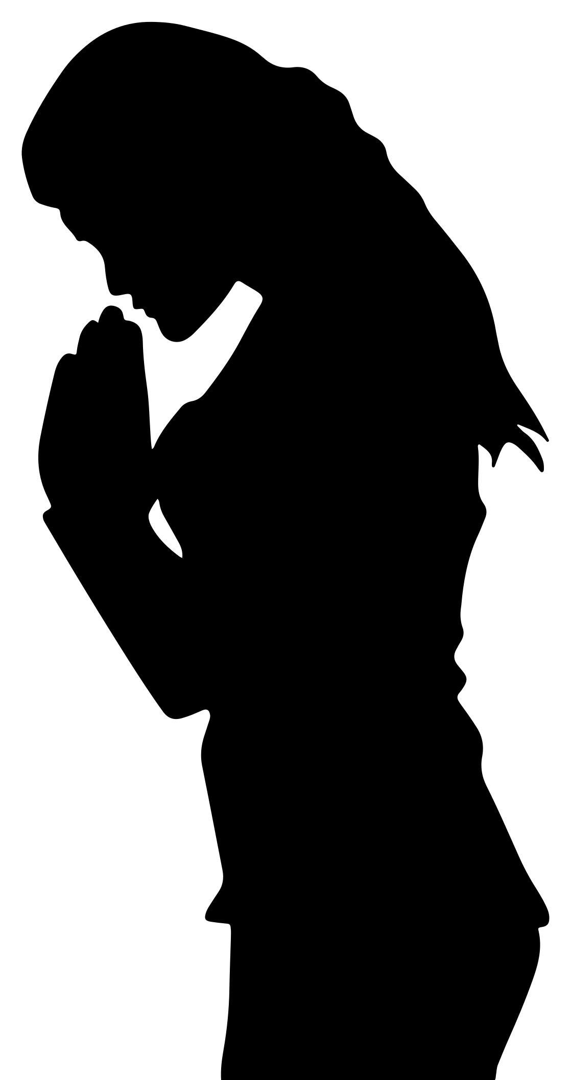 1118x2115 Woman Praying Silhouette Clipart