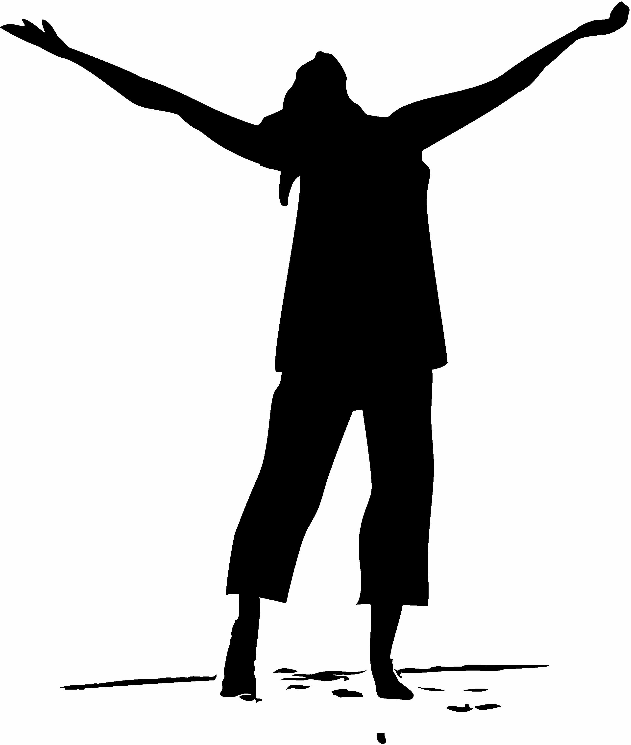 2550x3012 Worshipper Clipart Silhouette