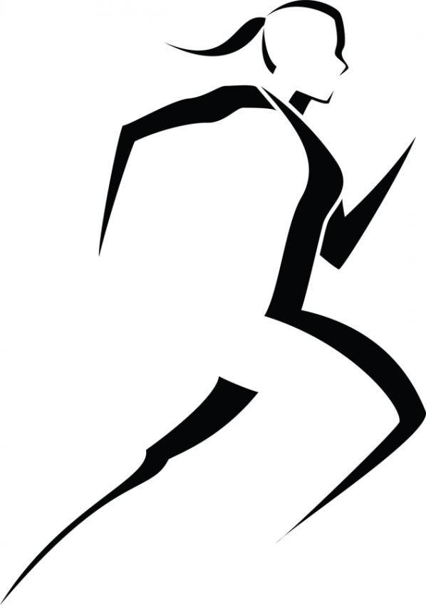 Woman Runner Silhouette