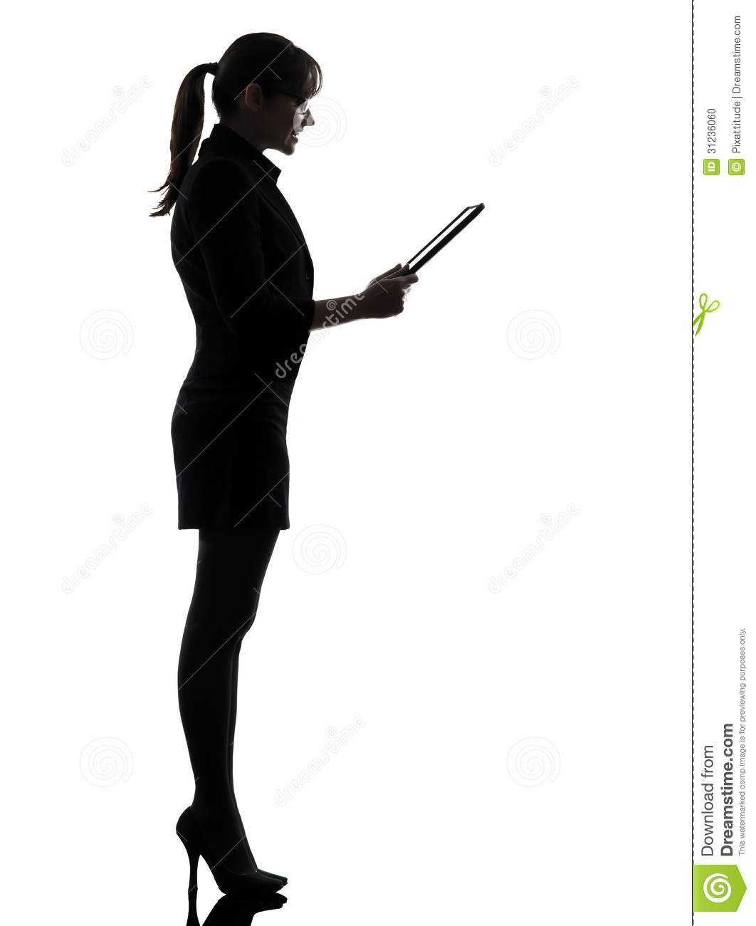1062x1300 Business Woman Computer Computing Digital Tablet Silhouette One