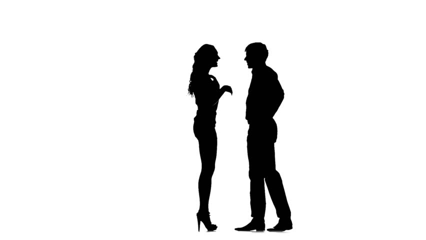 852x480 Silhouette Of A Male Amp Female Going To Meet Each Other Amp Kissing