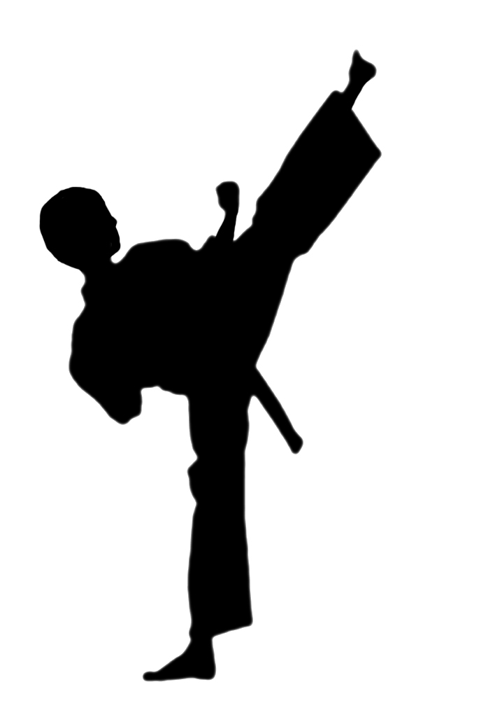 708x1004 Karate Silhouette Clipart