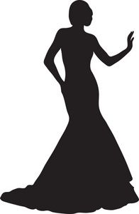 196x300 Red Dress Clipart Classy Lady