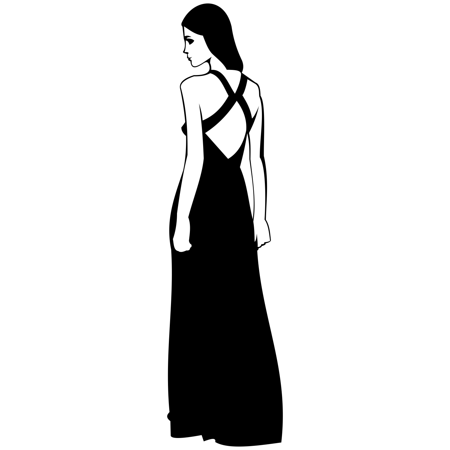 1500x1500 Vector For Free Use Woman In Dress