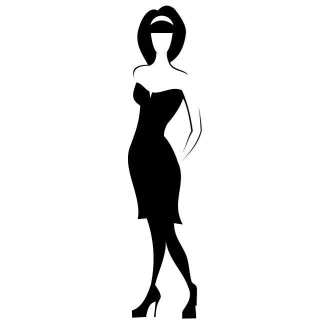 660x660 Woman In Black Dress
