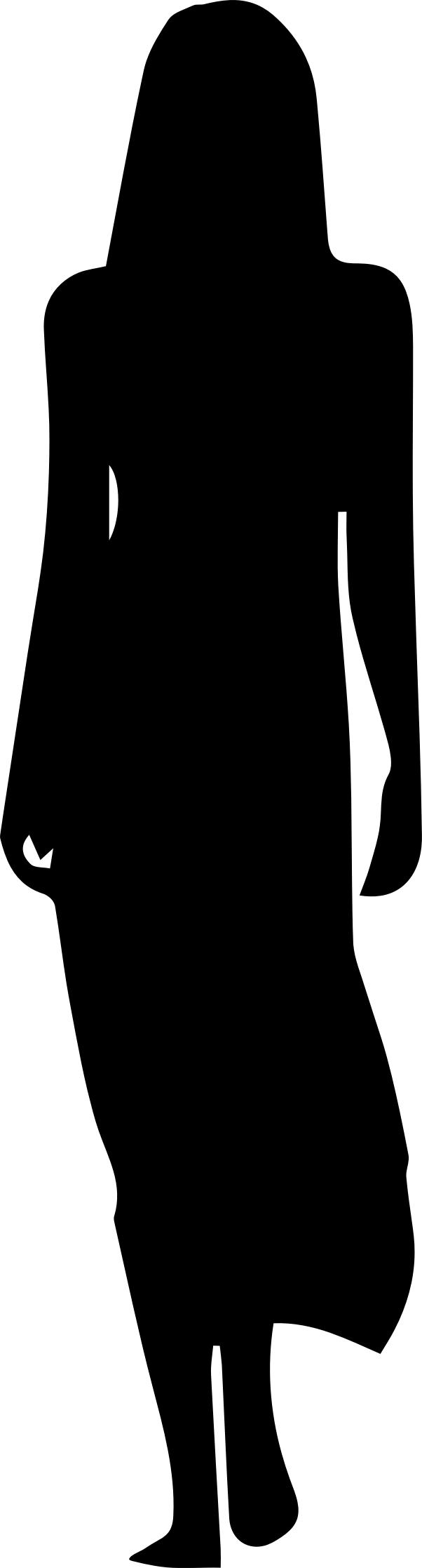 602x2234 Woman In Dress Silhouette Icons Png