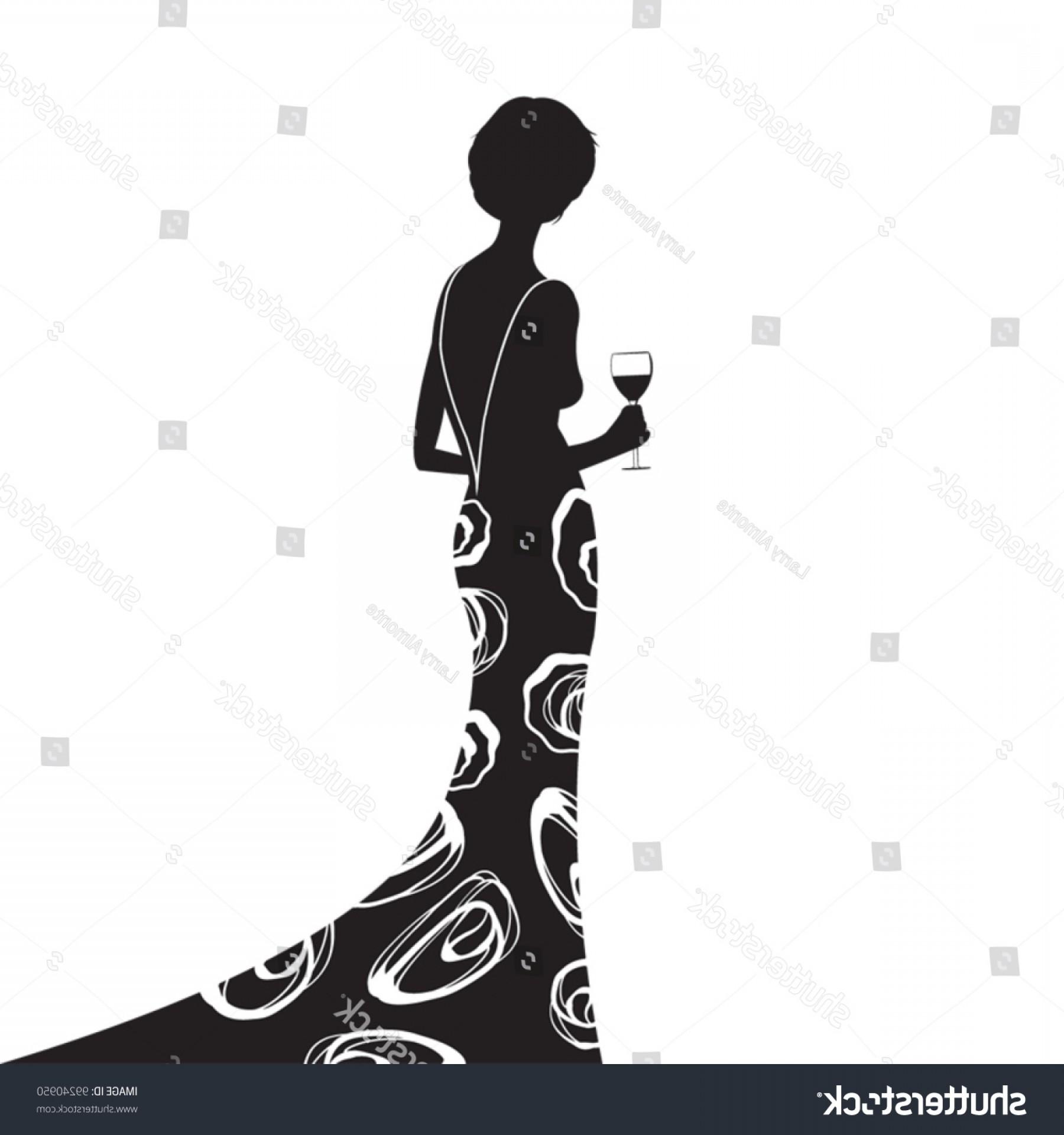 1800x1920 Woman Silhouette Wearing Elegant Black Dress Createmepink