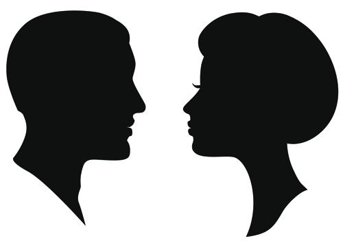 500x351 Man And Woman Silhouette Clip Art Black Man Clipart Black Side