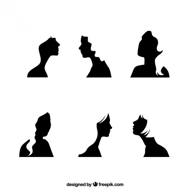 626x626 Black Girl Face Silhouettes Vector Free Download