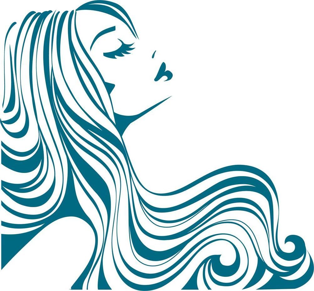 woman silhouette hair at getdrawings com free for personal use rh getdrawings com black hair stylist clipart hair stylist logo clipart