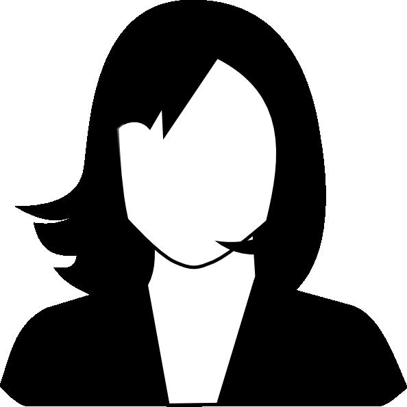 594x595 Female Black White Clip Art