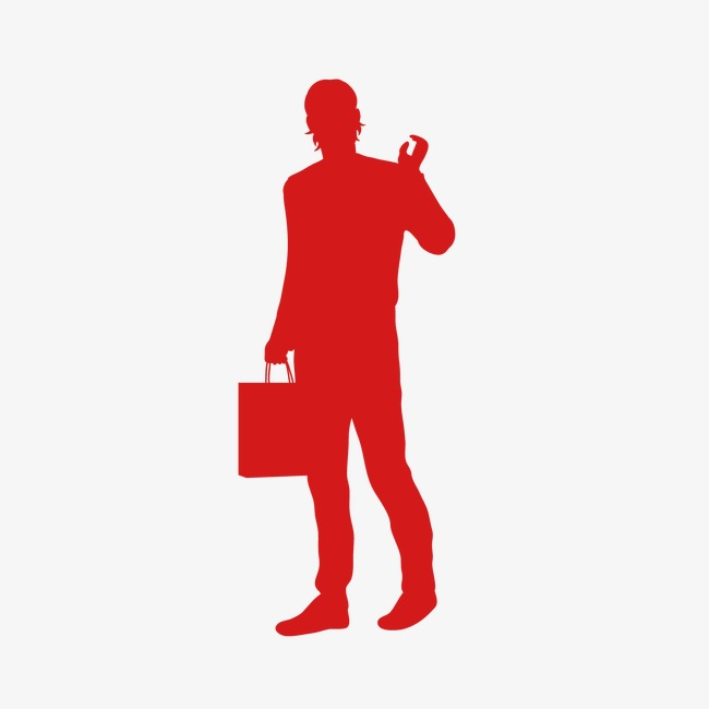 650x650 People Silhouette Icon Woman Silhouette Picture Material, Creative