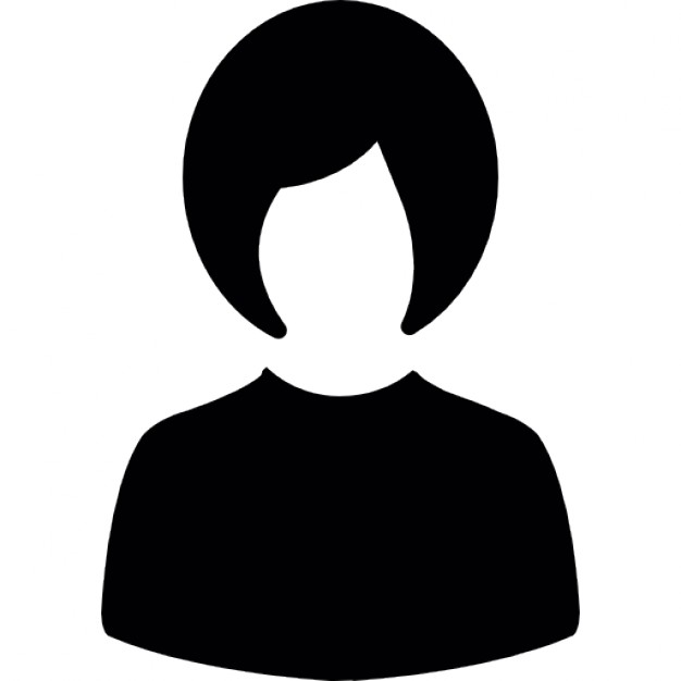 626x626 Woman With Short Hair Silhouette Icons Free Download