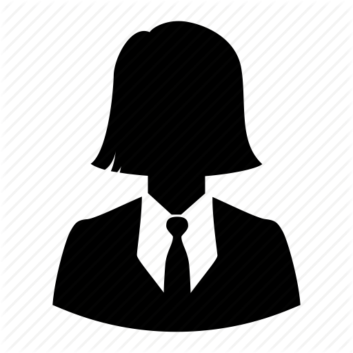 512x512 Avatar, Business, Businesswoman, Haircut, Silhouette, User, Woman