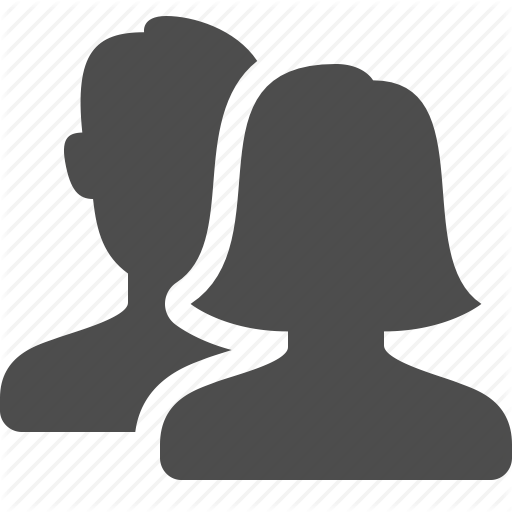 512x512 Blog, Communication, Female, People, Silhouette, User, Users, Web