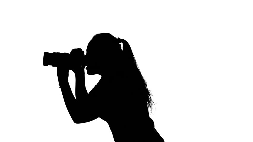 852x480 Photographer Attaches To The Lens And Makes Photography. White