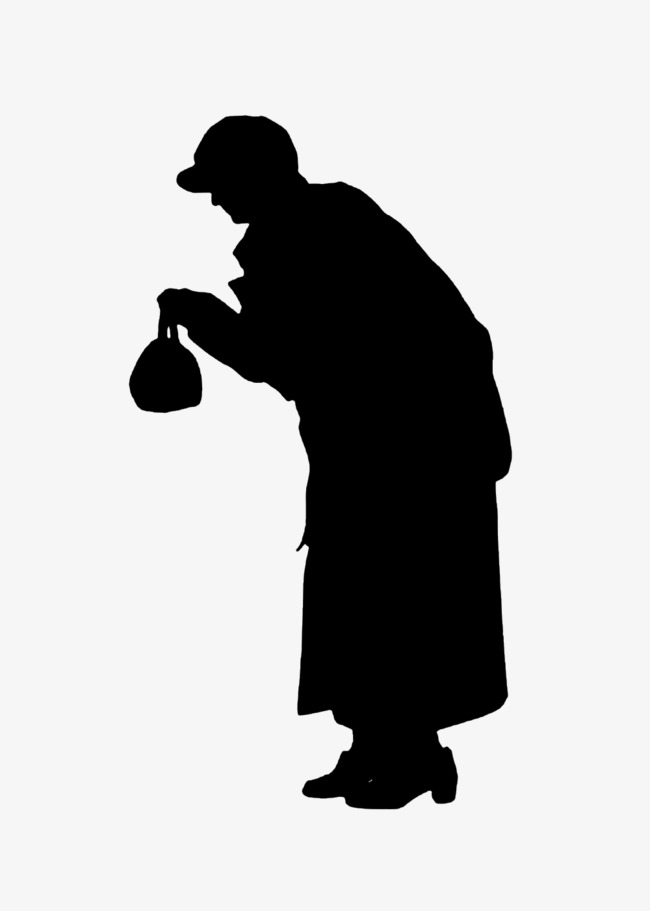 650x911 Bag Lady Silhouette, Old People, Sketch Png Image And Clipart