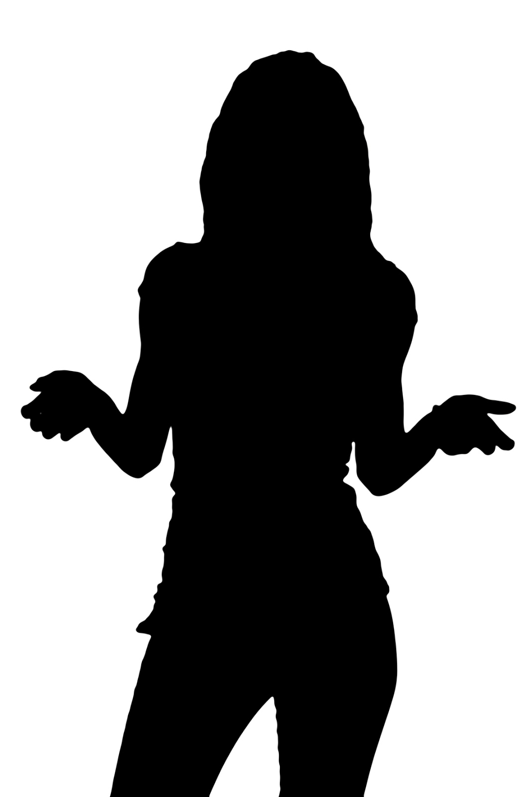 1066x1600 Female Silhouette Vector