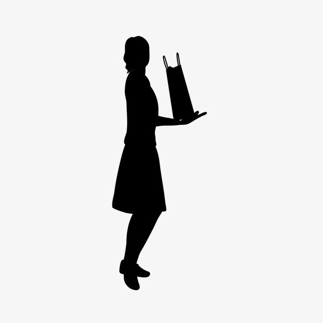 650x650 Woman Silhouette Cartoon Creative Woman, Woman Silhouette