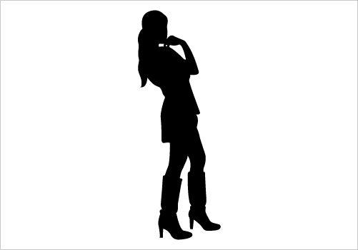 501x351 Modern Girl Silhouette Graphics Silhouette Clip Art