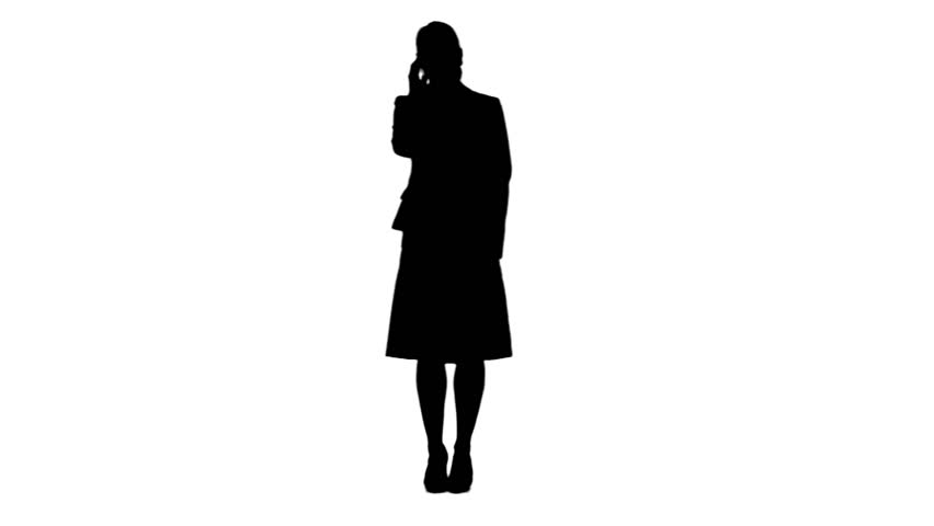 852x480 Silhouette Of Woman Talking On Her Mobile Phonegainst
