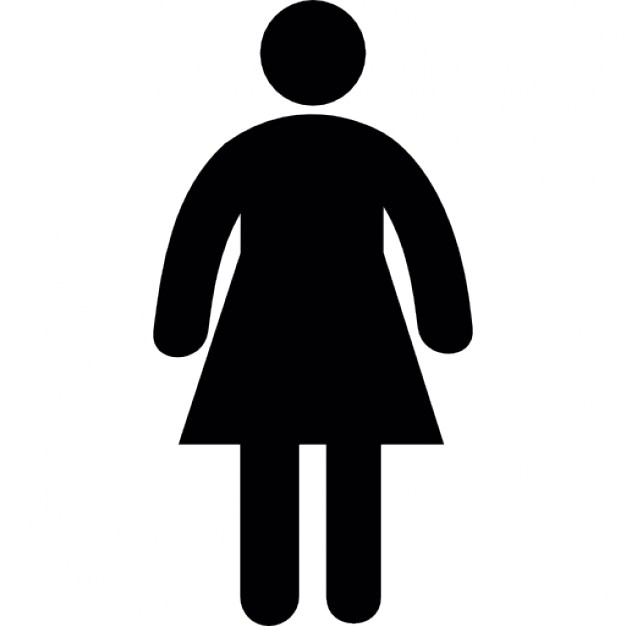 626x626 Standing Woman Silhouette In A Dress Icons Free Download