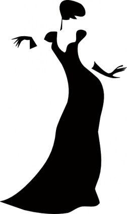 252x425 Lady silhouette clip art Romanov Dark Lady Clip Art