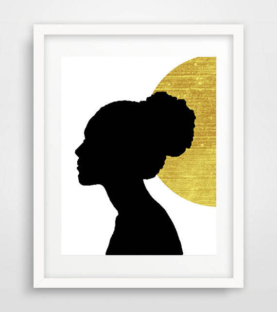 570x642 Gold And Black Afrocentric Black Woman African Art Modern